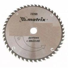 Пила диск 300х32х48Т твердосплавные пластины дерево MATRIX 73269