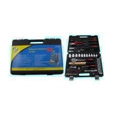 Набор инструмента  58 предметов 1/2 дюйма размер 8-27 мм ключи отвертки вставки в кейсе JJ-BT58 47701