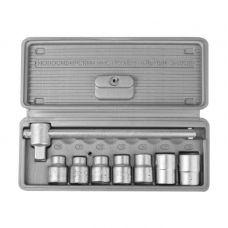 Набор инструмента головок  8 предметов 1/2 дюйма размер 10-19 мм головки 6 граней Набор шоферского инструмента №1 с ППП в/ф НИЗ 2761-10/13440