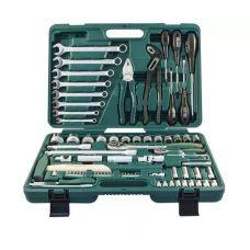Набор инструмента  77 предметов 1/2, 1/4 дюйма размер 4-32 мм ключи JONNESWAY S04H52477S