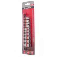 Набор инструмента головок 11 предметов 1/4 дюйма размер 4-13 мм 12 граней MATRIX 13594