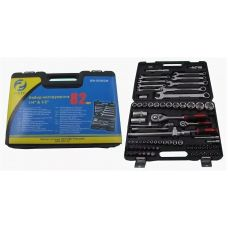 Набор инструмента  82 предметов 1/2, 1/4 дюйма GW-B5082M головки ключи вставки в кейсе 47697