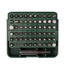 Набор бит 61 предметов специальные SL, PH, PZ, HEX, TORX, Square удлинитель-адаптер пластиковый кейс KRAFTOOL