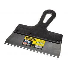 Шпатель сталь зуб  6 мм 200 мм пластмассовая ручка STAYER 1009-20-06