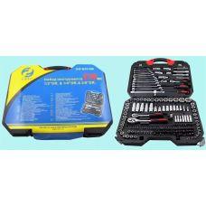 Набор инструмента 218 предметов 1/2, 1/4, 3/8 дюйма GW-B5218M головки, ключи, вставки упакованы в кейс по 2 шт 47700