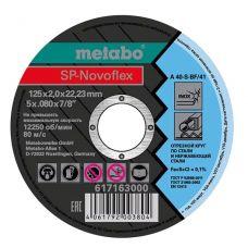 Круг абразивный отрезной 125х2,0х22 мм по нержавейке SP-NOVOFLEX METABO 617163000