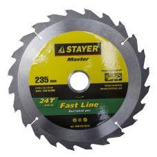 Пила диск 235х30/25х24Т твердосплавные пластины дерево STAYER 3680-235-30-24