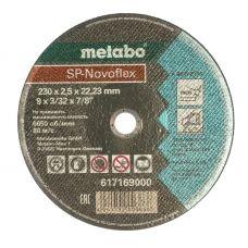 Круг абразивный отрезной 230х2,5х22 мм по нержавейке SP-NOVOFLEX METABO 617169000