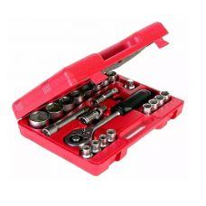 Набор инструмента головок 21 предметов 1/2 дюйма размер 10-32 мм MATRIX 13521