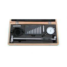 Нутромер 50 - 160 мм индикаторный глубина измерения 200 мм класс точности 0,01 мм 10 вставок с защитой 38719