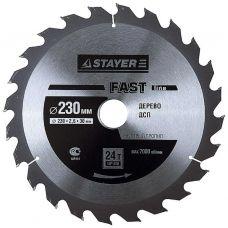Пила диск 230х30х24Т твердосплавные пластины дерево STAYER 3680-230-30-24