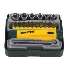 Отвертка реверс+биты+головки+адаптер 18 предметов Kraftool