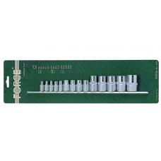 Набор инструмента  14 предметов TORX  Е4-Е24 1/2 дюйма 3/8 дюйма 1/4 дюйма FORCE 4158