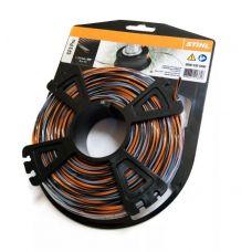 Леска для триммера 2,4 мм х 35 м крестообразная оранжевая/серая STIHL 0000 930 4300