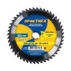 Пила диск 300х32/30х48Т твердосплавные пластины дерево ПРАКТИКА 030-535