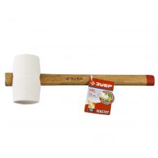 Киянка резиновая 680 г. белая с деревянной ручкой 75 мм