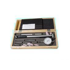 Нутромер 160-250 мм индикаторный цена деления 0,01 мм глубина измерения 200 мм 8 вставок 23646