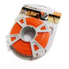Леска для триммера 2,4 мм х 43 м квадратная оранжевая STIHL ШТИЛЬ