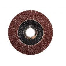 Круг лепестковый торцевой КЛТ 125х22 мм Р180 (№8) тип 1 ЛУГА