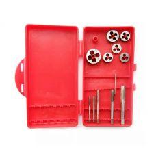 Набор метчиков и плашек №7 в наборе 12 предметов размер 3, 4, 5, 6, 8, 10 мм 2201004