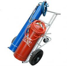 Тележка для газосварочного поста балон кислородный 40 л балон пропановый 50 л