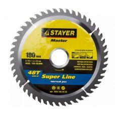 Пила диск 190х30х48Т твердосплавные пластины дерево STAYER 3682-190-30-48