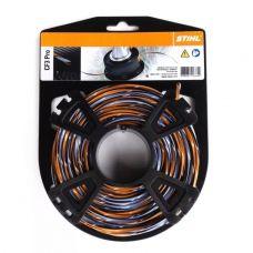 Леска для триммера 2,7 мм х 27 м крестообразная серая / оранжевая STIHL 00009304301
