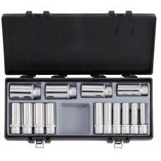 Набор инструмента головок 14 предметов 1/2 дюйма размер 10-32 мм 6 граней удлиненные FORCE 4143