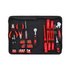 Набор инструмента  45 предметов 1/4 дюйма размер  5-13 мм отвертки биты ключи разводные FIT 65140