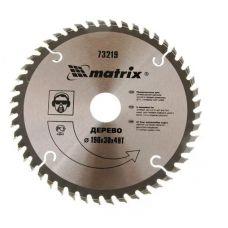 Пила диск 190х30х48Т твердосплавные пластины дерево MATRIX 73219