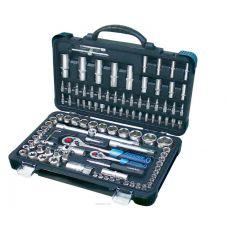 Набор инструмента 108 предметов 1/2, 1/4 дюйма размер 4-32 мм 6 граней Forsage 41082-5 Forsage