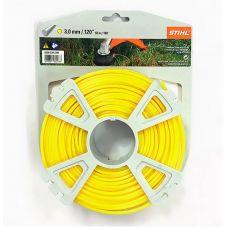 Леска для триммера STIHL 00009302344 3,0 мм х 55 м круглая желтая 00009302344