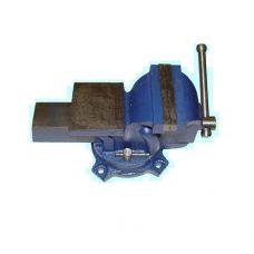 Тиски слесарные 250 мм 10 дюймов поворотные стальные усиленные с наковальней 30225