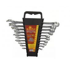Ключи КГКП комплект 10 шт размер 6-22 мм в пластиковом держателе KINGTUL