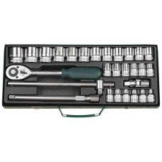 Набор инструмента головок 28 предметов 1/2 дюйма размер 8-32 мм KRAFTOOL 27892-Н28_z01