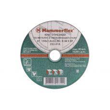 Круг абразивный отрезной 150х1,6х22 мм HAMMER по нержавейке 86898 с86898