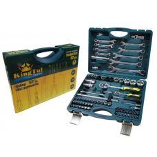 Набор инструмента  82 предметов 1/2, 1/4 дюйма размеры 4-32 мм ключи KINGTUL КТР82