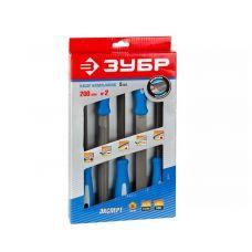 Набор напильников 5 шт длина 250 мм №2 пластмассовые ручки ЗУБР 16651-25-Н5