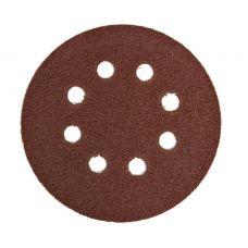 Круг из абразивного волокна 125 мм Р180 8 отверстий 5 шт ПРАКТИКА 031-525