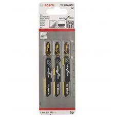 Пилки по металлу для эл лобзика длина 83 мм шаг 1,1 мм BOSCH БОШ T118АНМ комплект 3 шт