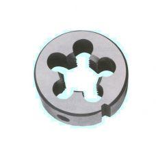 Плашка дюймовая 1/2 дюйма 12BSW 55 градусов сталь 9ХС 12 ниток на дюйм диаметр наружный 38 мм резьба Уитворта 39885