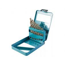 Набор сверл по металлу №13 размер 2-8 мм упаковка 13 шт сталь HSS металлическая коробка HARDAX