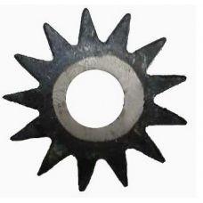 Шарошка тупозубая диаметр 35х1,5х8 мм звездочка сталь 20 закаленная твердость 65HRC 34642
