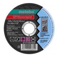 Круг абразивный отрезной 125х1,0х22 мм по нержавейке Inox SP-NOVORAPID METABO 617162000