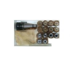 Патрон цанговый хвостовик 7:24-50 с набором цанг 14 шт размер 3-16 мм РИТМ 263.2