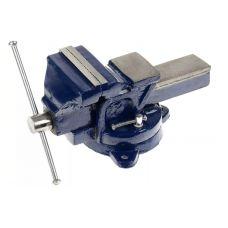 Тиски слесарные 100 мм с поворотным механизмом DEXX 32470-100