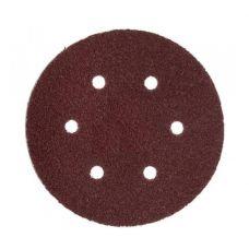 Круг из абразивного волокна 150 мм Р 80 6 отверстий  ЗУБР 35566-150-080