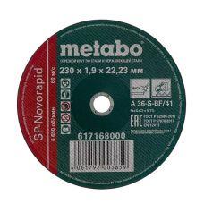 Круг абразивный отрезной 230х1,9х22 мм по нержавейке SP-NOVORAPID METABO 617168000