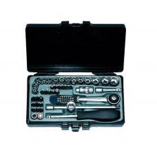 Набор инструмента головок 42 предметов 1/4 дюйма размер 3,2-14 мм 6 граней FORCE 2421