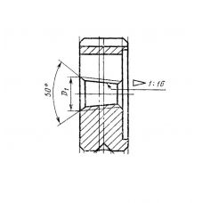 Плашка коническая К1/8 дюйма сталь Р6АМ5 66553